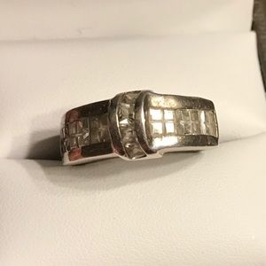 Vintage Sterling Silver CZ Ring size 7